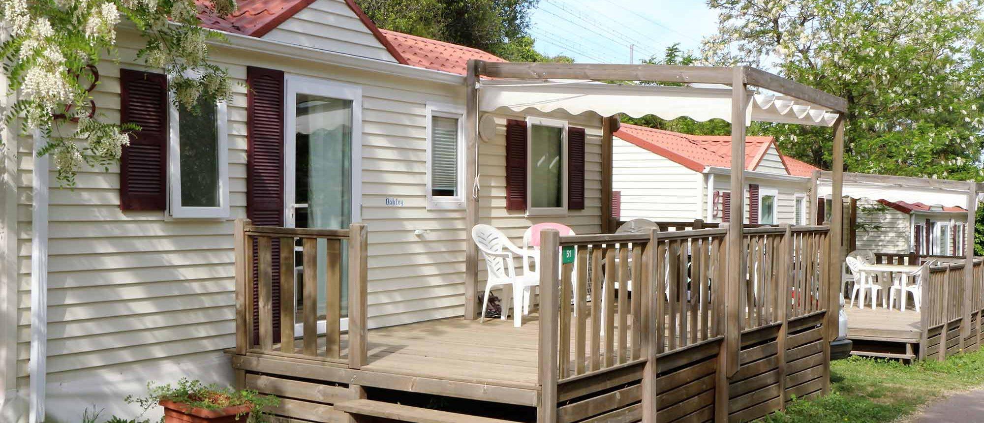 Cottage hébergement Camping Les Amandiers