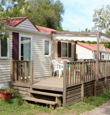 hebergement cottage Camping Les Amandiers